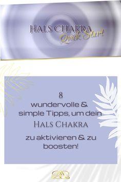 Nutze folgende einfache Alltags-Übungen & Tipps, um dein Chakra zu aktivieren & zu boosten! Ich habe dir auch eine wundervolle geführte Meditation dazu gepackt! #12chakren #chakra #chakras #12chakras #meinechakren #chakraboosten #halschakra Chakra, Coaching, Yoga, Spiritual, Tutorials, Tips, Training, Chakras