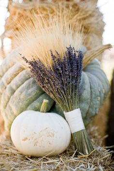 dried lavender and wheat