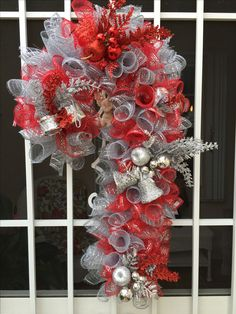 Silver and Red Candy Cane