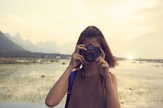 #beautiful #blur #camera #capture #close up #depth of field #environment #female #focus #girl #hands #lady #lake #leisure #lens #mountains #nature #outdoors #person #photographer #sky #sun glare #sunset #taking pho