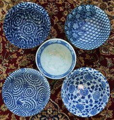 blue japanese bowl
