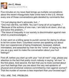 #YesAllWomen and yes all men can choose not to participate in sexism