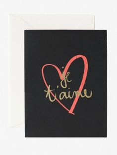 Je T'aime Card by Garance Doré, available at Verdalina.