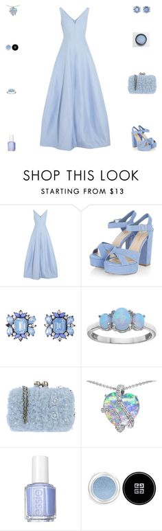 """""""Contest: Pastel Blue Prom Outfit"""" by billsacred ❤ liked on Polyvore featuring Halston Heritage, Darling, Essie and Givenchy"""