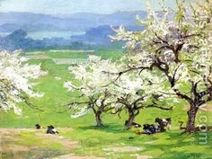 Handmade oil painting reproduction of Edward Henry Potthast Springtime - on canvas and available in any size or choose another work from more than 250,000 different oil paintings and 25,000 artists. The highest quality paintings and great customer service!