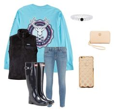 """""""Untitled #32"""" by amberleycaffrey0310 on Polyvore featuring Patagonia, Frame Denim, Hunter, Tory Burch, women's clothing, women's fashion, women, female, woman and misses"""