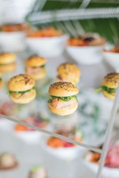 Luxe reflective surfaces were the basis behind every detail of this modern mirror wedding theme. Wedding Food Catering, Wedding Food Stations, Wedding Reception Food, Catering Ideas, Food Inspiration, Wedding Inspiration, Luxury Mirror, Mini Burgers, Elegant Wedding