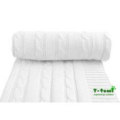 Dětská pletená deka, bílá