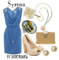 Syrena outfit - by disneybound Disney Themed Outfits, Disney Inspired Fashion, Character Inspired Outfits, Disney Fashion, How To Have Style, My Style, Classic Style, Disneybound Outfits, Estilo Disney