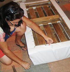 Arte e manhas da Rô: O sofá de pallet