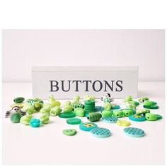 Green button and bead love - day 4 of my #greenchallenge