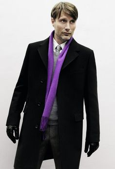 Mads Mikkelsen - awesome use of color - and even though he is a serial killer, Hannibal is as dapper as it gets