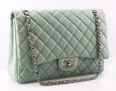 Ooh la la, Chanel mint green purse!