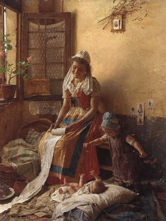 Gaetano Chierici (1838-1920)A Mothers Love