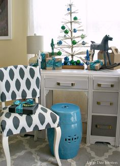 A little Christmas Tree vignette! - Up to Date Interiors