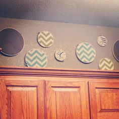Embroidery hoops craft #chevron #kitchens