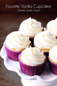 Vanilla Greek Yogurt Cupcakes.