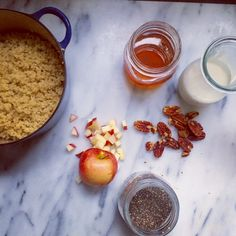 Break out of your oatmeal rut and consider something new in that hot cereal bowl: quinoa. It is rich in protein, magnesium, iron and it's gluten free! Recipe on Mom's Kitchen Handbook