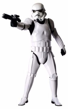Boys Disney Star Wars White StormTrooper Muscle Halloween Costume /& Weapon 8//10