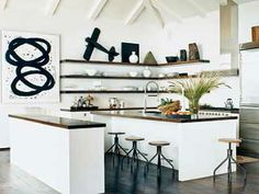 Another example of open shelving -- love the simplicity.