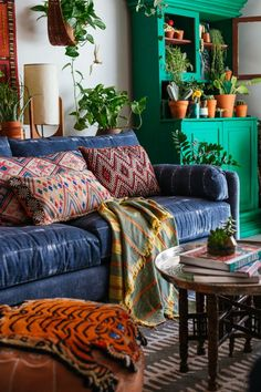 LES is more. Our sofa, chair and sectional collection with Justina Blakeney embraces her unique Jungalow Style!