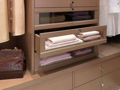 Les tiroirs verres, pour plus de transparence