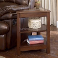 Triangular Chairside End Table
