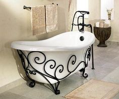 This would be perfect upscale bath to double as a guest and kids bath; kids love a tube and it's lovely for guests.