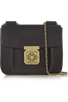 Chloé Elsie small textured-leather shoulder bag | NET-A-PORTER (dreaming of this bag after seeing in person today)