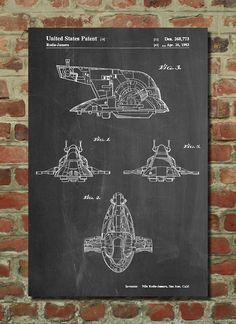 Slave One, Star Wars Ship Poster, Slave One, Star Wars Ship Patent, Slave One, Star Wars Ship Print, Slave One, Star Wars Ship Decor