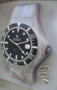 Rolex watch birthday cake!
