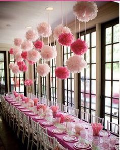 Items similar to 7 Tissue Pom Poms : wedding decor - bridal shower - nursery decor - carnival decor - princess party - pink - pick your colors on Etsy Tissue Pom Poms, Tissue Paper Flowers, Tissue Balls, Paper Poms, Pink Paper, Paper Balls, Diy Flowers, Wedding Flowers, Wedding Pom Poms