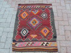 "Turkish Handwoven Kilim Rug Natural Wool 30"" x 42""   eBay"