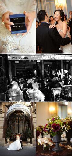 Sesje zagraniczne - Paryż | Romantic American Wedding in Paris from Andrea & Marcus | Style Me Pretty