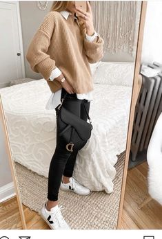 Trendy Fall Outfits, Cute Casual Outfits, Winter Fashion Outfits, Look Fashion, Stylish Outfits, Retro Fashion, Autumn Fashion, Korean Fashion, Dress Casual