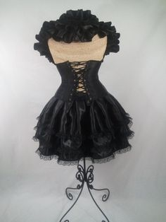 RESERVED: 28 Inch Rush Order Midnight Black Bustle Only via Etsy