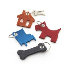 Felt Keychains  | Crate and Barrel these would be easy to make with some thick felt and gromets