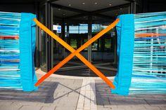 Anna Glasbrook's ribbon opening for David Puttnam to cut at bath spa university