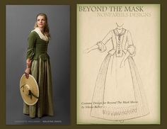 Written before I pinned: I love this outfit of Charlotte's! The sewing team did such a marvelous job with the costumes for Beyond The Mask! Good Christian Movies, Beyond The Mask, The Mask Costume, Ella Enchanted, Coming To Theaters, In And Out Movie, Famous Stars, Movie Costumes, Costume Design