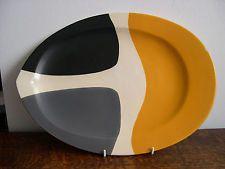 Mado Jolain grand plat ceramique Vallauris Jouve Capron moderniste 1950's
