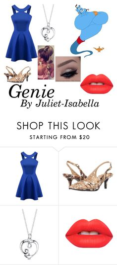 """Genie 💫"" by juliet-isabella ❤ liked on Polyvore featuring Chicnova Fashion, J.Reneé, Disney and Lime Crime"