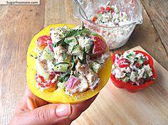 Mayo Free Cilantro Chicken Salad: 149 calories per serving!