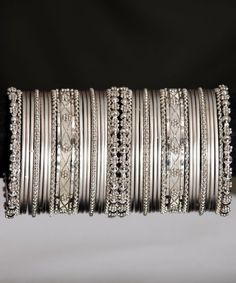 Silver Bangles Indian - Click Image to Close Bridal Bangles, Silver Bangles, Bridal Jewelry, Silver Earrings, Beaded Earrings, Affordable Jewelry, Stylish Jewelry, Fashion Jewelry, Silver Jewellery Indian