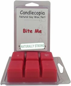 Bite Me 6.4 oz Scented Wax Melts - Fresh citrus notes of lime and orange sparkle with effervescent highlights as they lead to a luscious blend of berry and cherry - 2-Pack of naturally strong scented soy wax cubes throw 50+ hours of fragrance when melted in Scentsy®, Yankee Candle® or standard electric tart warmer Candlecopia,http://www.amazon.com/dp/B00HZ5T9E6/ref=cm_sw_r_pi_dp_THWvtb0ZS4XN86ZP