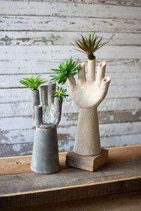 House + Home Kalalou Clay hand vase  Enter code 1262265228 for 10% off