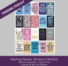 Free Printable Adulting Planner Stickers from My Life Planners