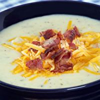 Potato Soup . . . tastes like Panera's potato soup! I used Sierra gold potatoes. Made about 7 cups of soup.