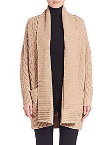 b58ec9955 Polo Ralph Lauren - Wool   Cashmere Cabled Cardigan Shawl Collar Cardigan