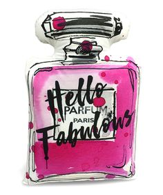 Take a look at this By Jodi 'Hello Fabulou' Perfume Bottle Pillow today!
