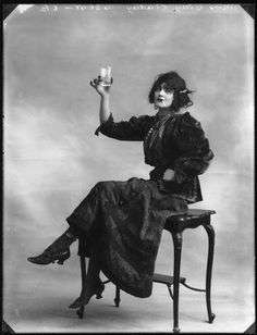 A fine friend to hang with, and those shoes are fabulous. Bassano, Betty Lindley, 1914